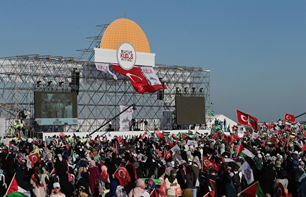 Istanbulites rally against Israel's Al-Aqsa move