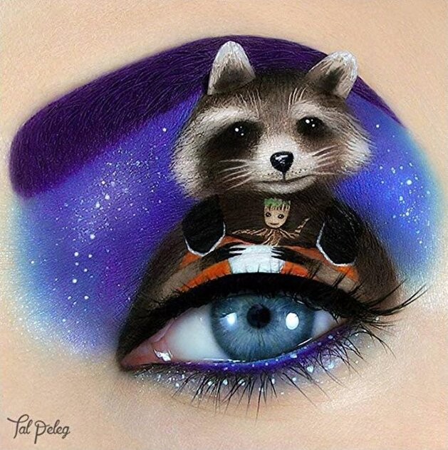 Makeup artist portrays how 'it's all in the eyes'