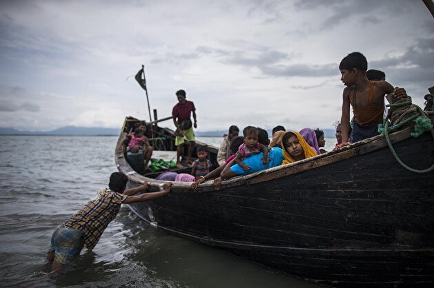 Rohingya Muslims fled from oppression in Myanmar