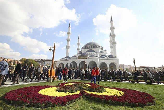 Melike Hatun Mosque opening in Turkey's Ankara