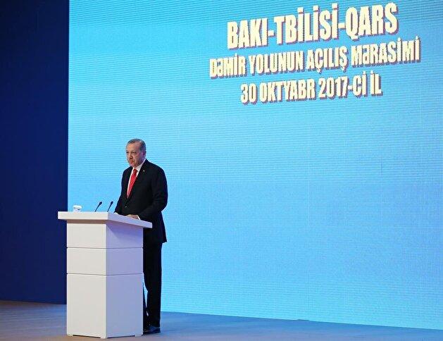 Train service linking Baku-Tbilisi-Kars launched