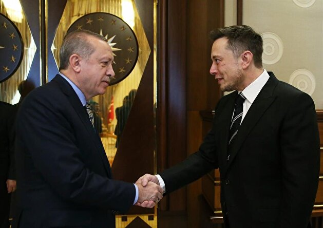 Erdoğan receives SpaceX CEO Elon Musk in Ankara