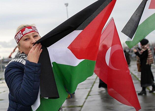 Protest against US Jerusalem decision in Istanbul's Yenikapı