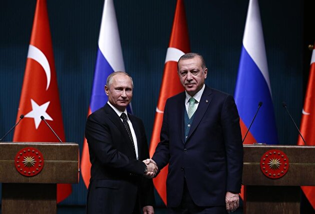 President Erdoğan receives Russian counterpart Putin in Ankara