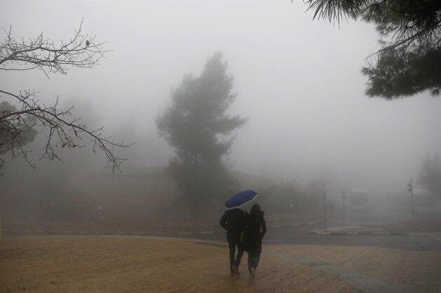 Fog envelops Jerusalem