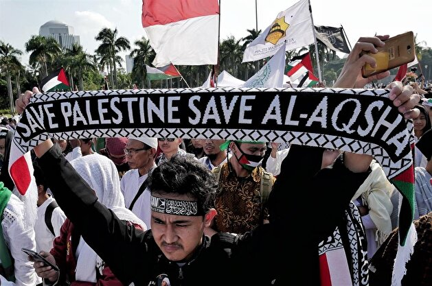 Indonesian mass protest against US decision on Jerusalem