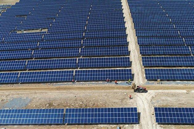 Solar power plant construction in Turkey's Van