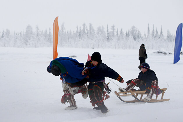 The daily life of reindeer herders in Russia