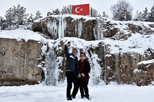 Winter beauty in the Hobbit Village in Turkey