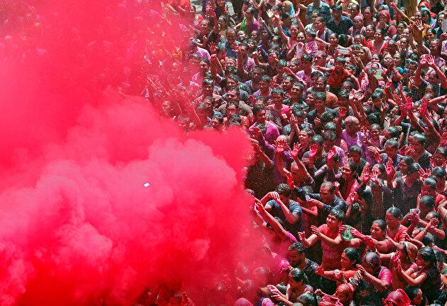 Holi celebrations in Ahmedabad