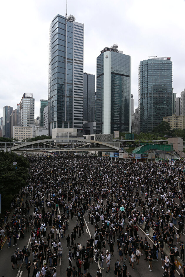 Demonstration against a proposed extradition bill in Hong Kong