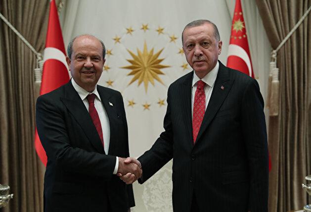 Turkish President Erdoğan, Turkish Cypriot Prime Minister Ersin Tatar joint press conference in Ankara