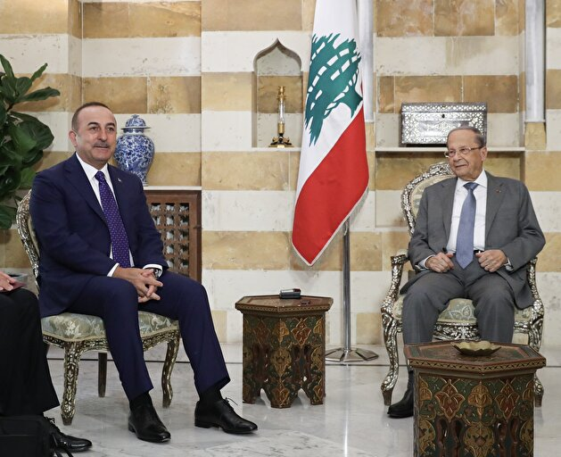 Turkish Foreign Minister Cavusoglu in Lebanon