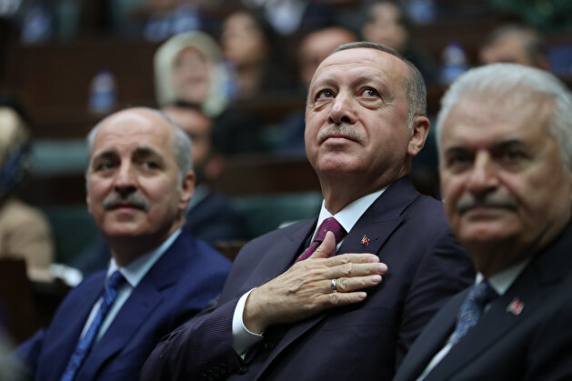 Turkish President Erdoğan attends a meeting of his ruling AK Party in Ankara