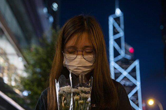 Vigil for Deceased Protestor in Hong Kong Amid Coronavirus Pandemic