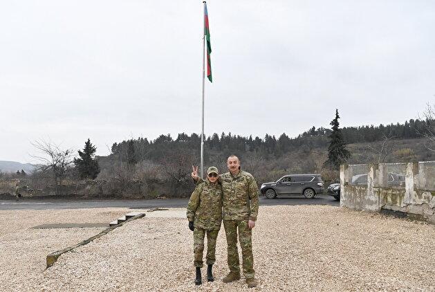 Aliyev kisses Azerbaijan flag in Qubadli during visit to liberated Karabakh