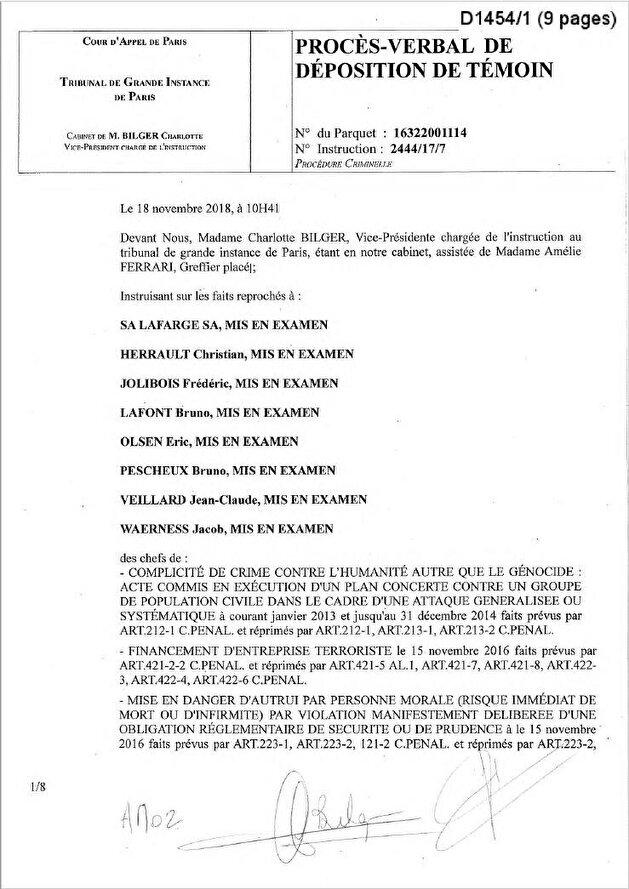 """وثائق تظهر علم باريس بتمويل شركة فرنسية لـ """"داعش"""""""