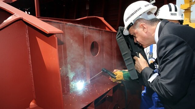 Aircraft carrier to be produced soon: Erdoğan