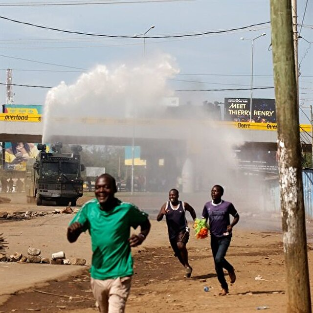 Kenyan police fire in air to disperse opposition demonstrators