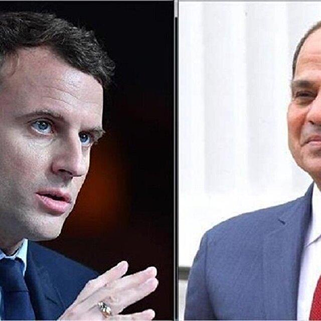 السيسي وماكرون يبحثان تداعيات الضربة الثلاثية بسوريا
