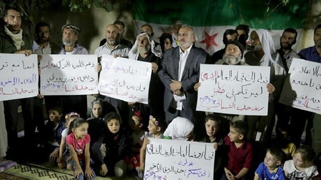 Syrians of Al-Bab rally in support of Turkey's lira