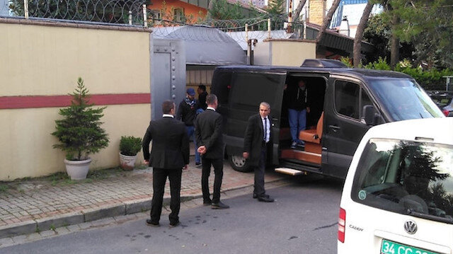 Saudi van with 3 suitcases leaves Istanbul consulate