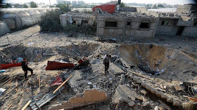 Israeli attacks leave several parts of Gaza in ruins