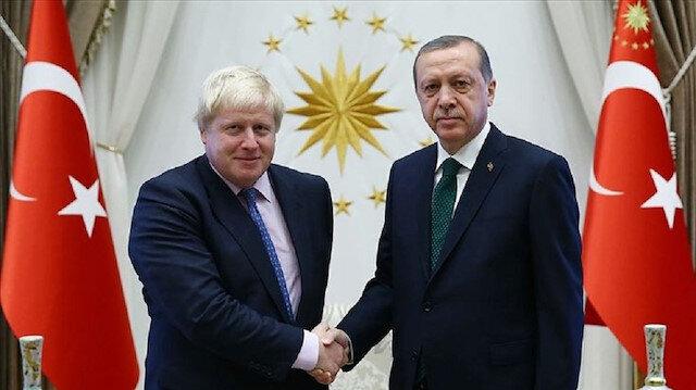 President Erdoğan, UK PM speak on phone