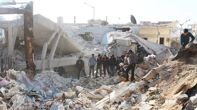 Air strikes hit Syria ceasefire zone