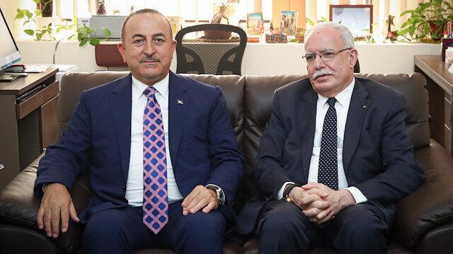 Turkish FM meets Palestinian, Jordanian counterparts