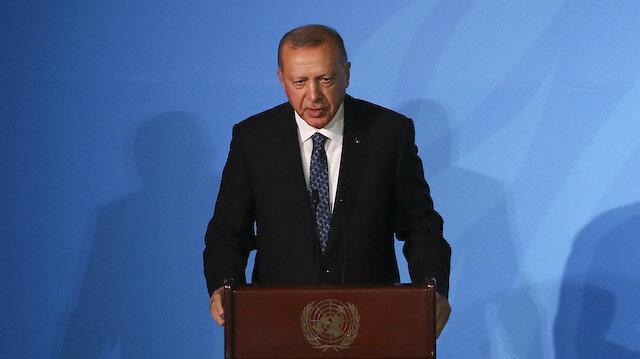 Turkey's President Recep Tayyip Erdoğan speaks during UN Climate Action Summit 2019