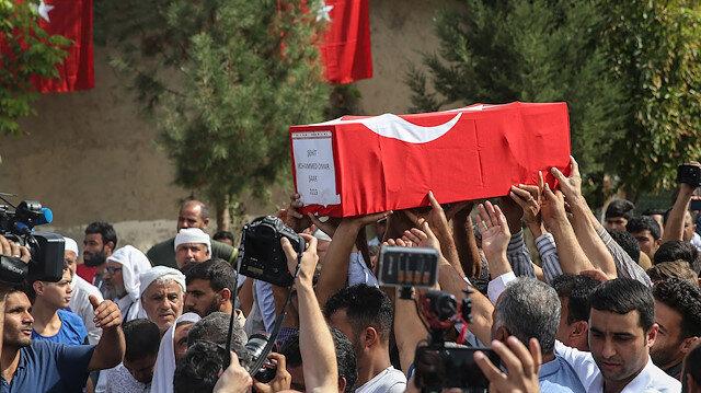 President Erdoğan extends condolences to martyr's family