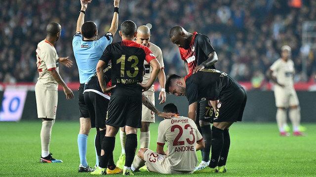 Galatasaray'dan Andone açıklaması: Tama yakın yırtık var