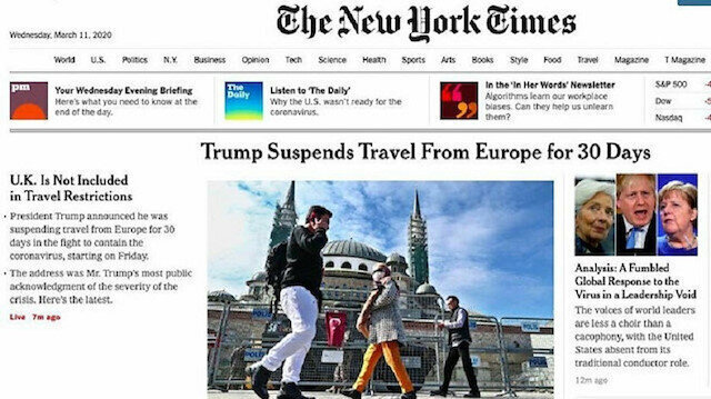NY Times publishes Trump's Europe travel ban with photos from Turkey that is not even on list