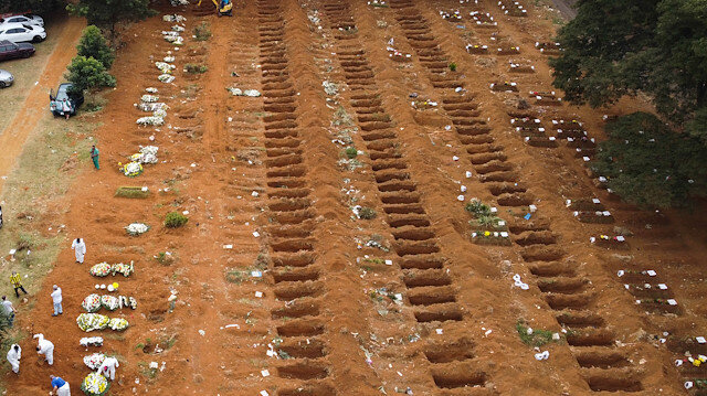 Brezilya salgının yeni merkezi oldu: Mezarlar yetişmiyor