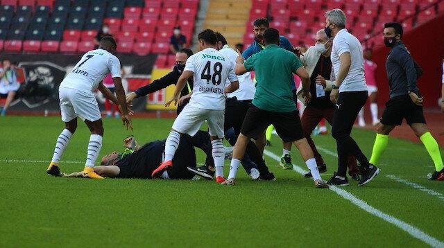 Eskişehirspor-Altay maçında yumruklar havada uçuştu: İşte o anlar