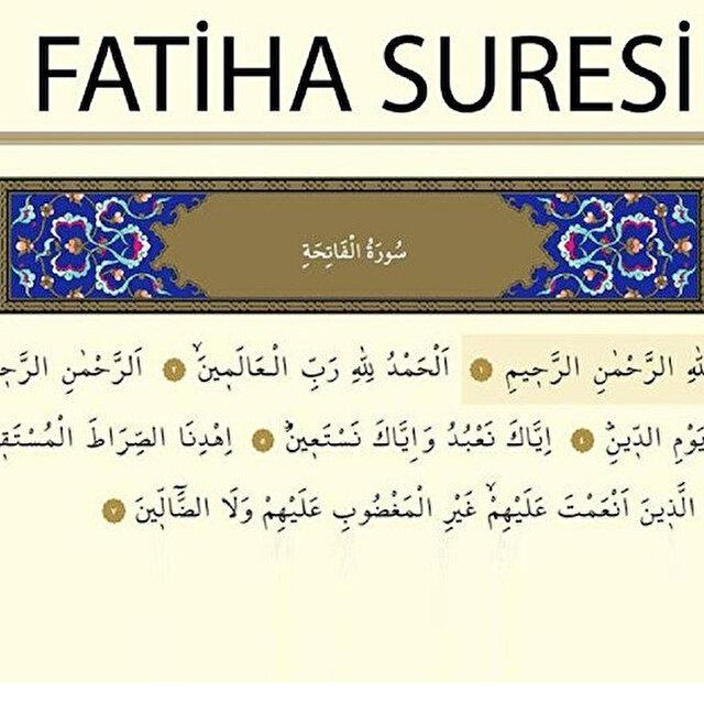 Fatiha Suresi: Fatiha Suresi Arapça okunuşu anlamı ve fazileti