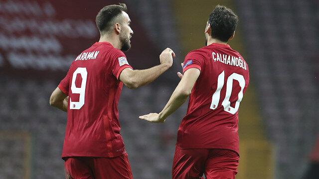 Milli Takımın maçı yine nefes kesti: Telekom'da 4 gol var 1 de kırmızı kart