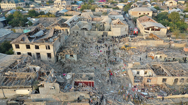 Armenian attack kills 12 civilians in Ganja, Azerbaijan