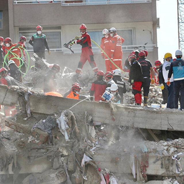 İzmir depreminde can kaybı 69'a yükseldi