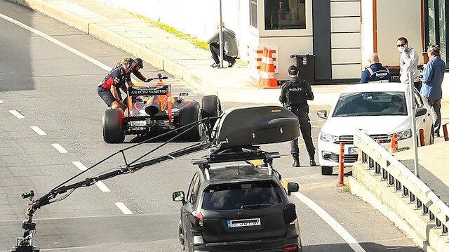 Formula 1 araçları Avrasya Tüneli'nde
