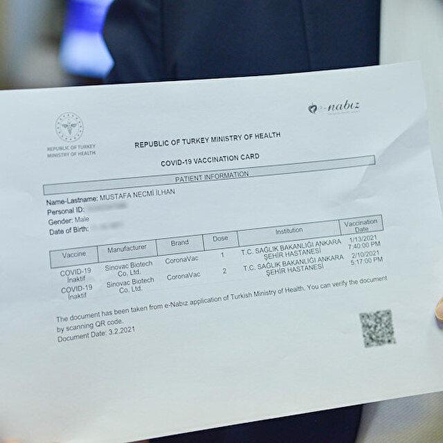 'Koronavirüs aşı kartı' 'aşı pasaportu' olarak gösterilebilir