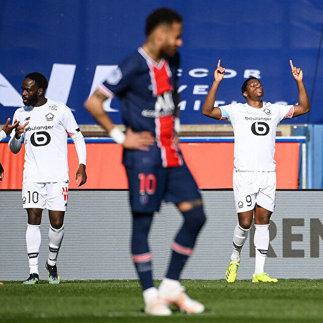 Lille, PSG'yi 1-0 yenerek liderliğe yükseldi (ÖZET)