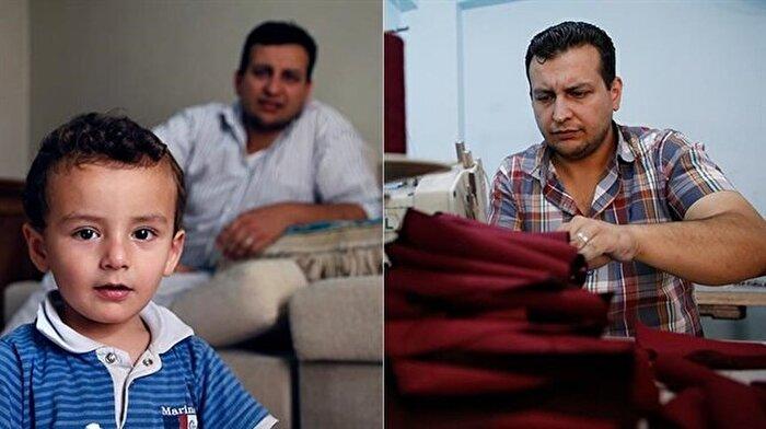 Suriyeli kalp cerrahı, otistik çocuğu için terzilik yapıyor