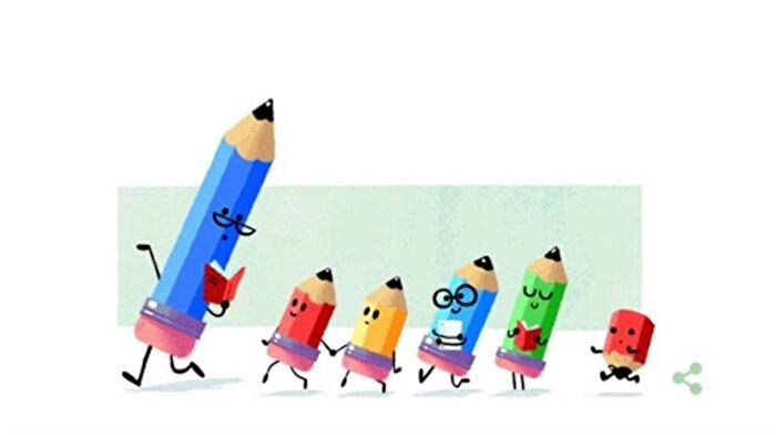 Google 24 Kasım Öğretmenler Günü'nü Doodle ile kutladı