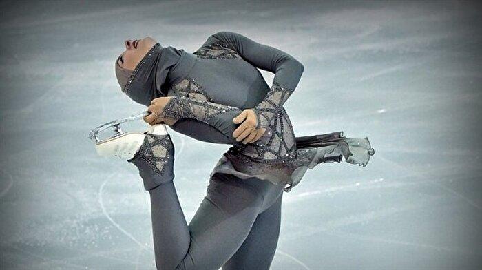 Tesettürlü buz pateni yarışmacısı Zahra ile tanışın!