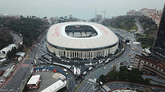 Derbi öncesi Vodafone Park havadan görüntülendi