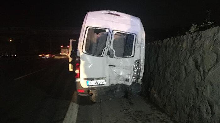 Bursaspor taraftarları kaza yaptı: 10 yaralı