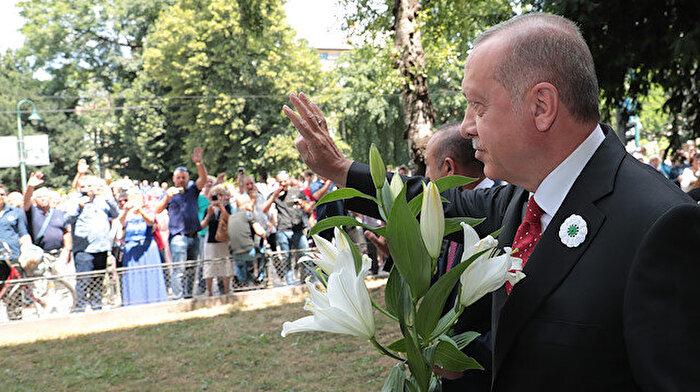 Cumhurbaşkanı Erdoğan Srebrenitsa Soykırımı geçit törenine katıldı
