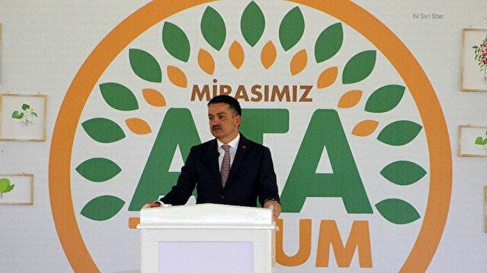 Tarım ve Orman Bakanı Bekir Pakdemirli 'Ata Tohumu Projesini' tanıttı